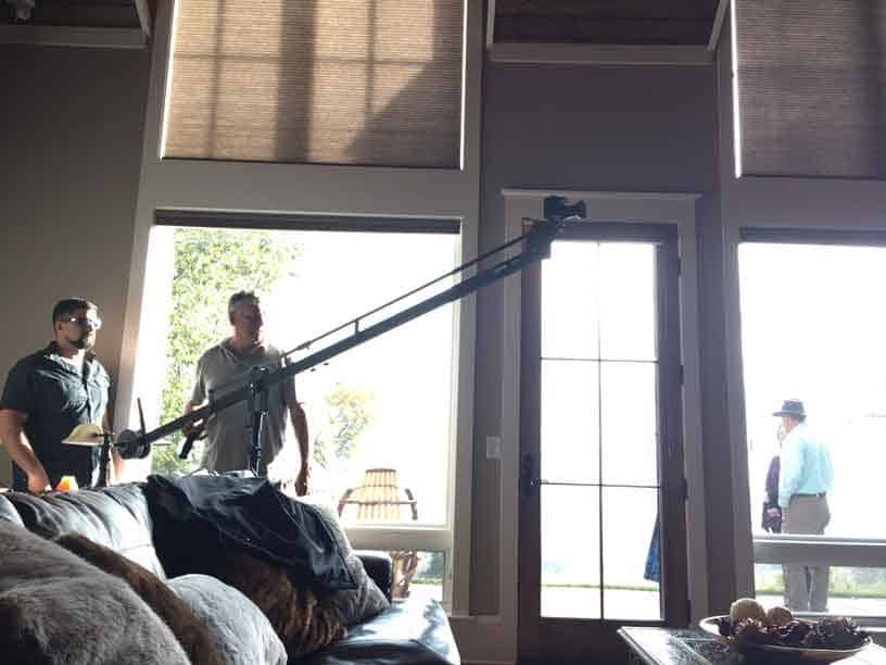 Using an 8-foot jib provides vertical camera motion