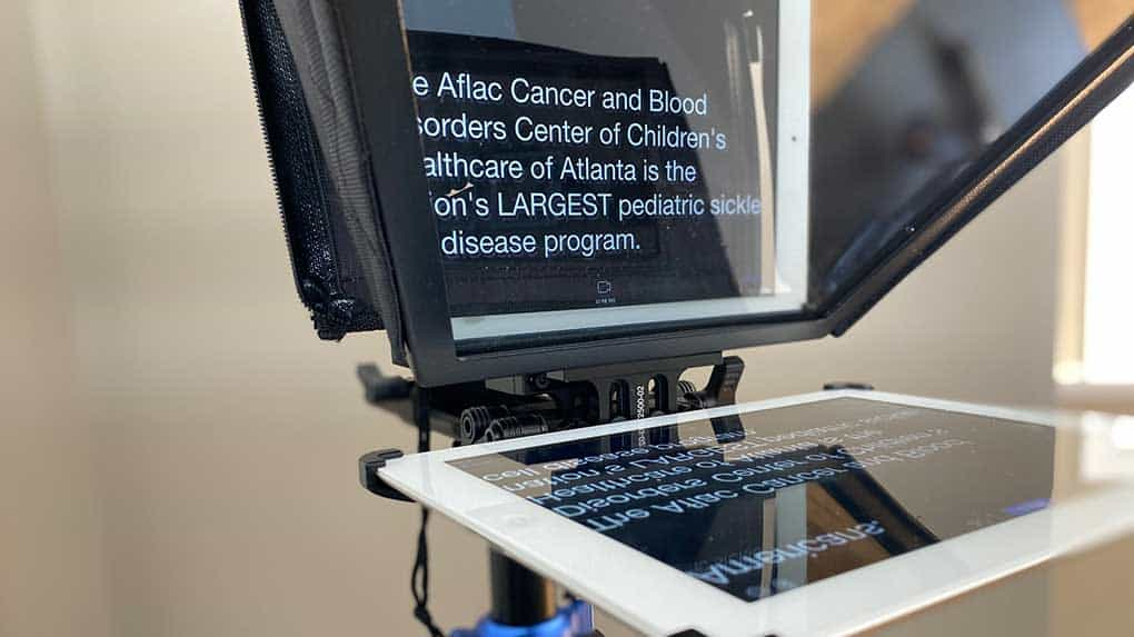 A teleprompter like this can make video production easier.